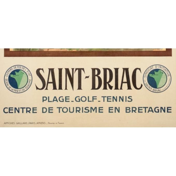 Vintage travel poster - A.Nazal - Circa 1920 - Saint-Briac - 39.4 by 24.4 inches - 3