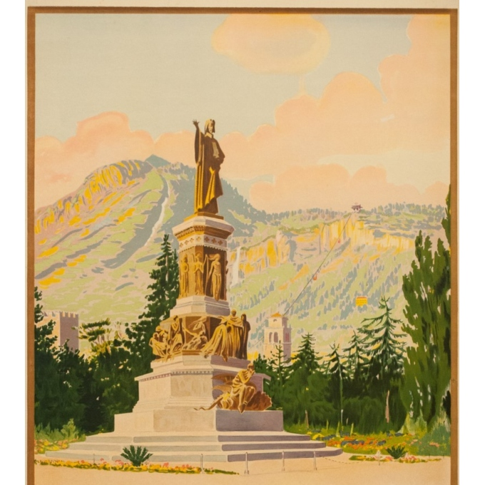 Vintage travel poster - Anonyme  - Circa 1925 - Trento Italie - 40.4 by 24.4 inches - 2