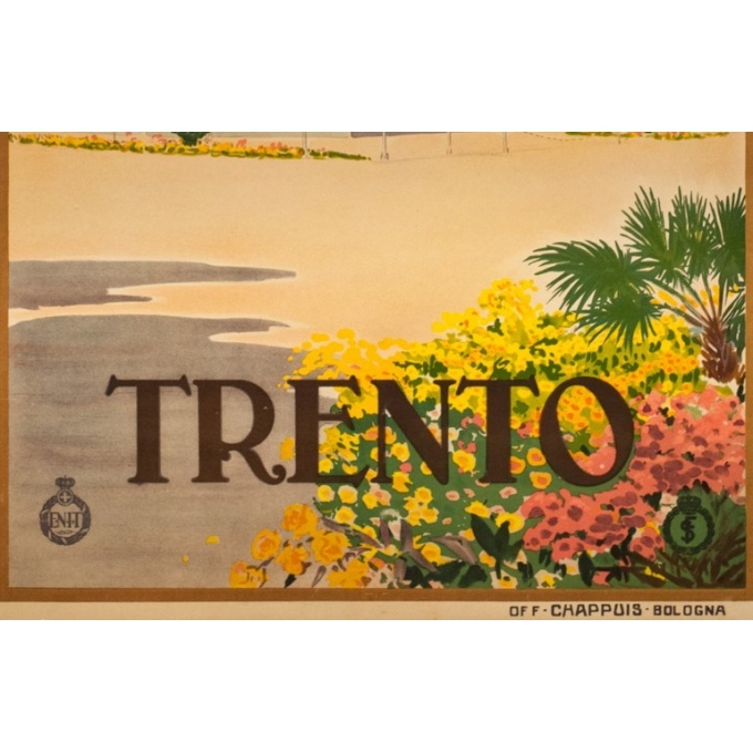 Vintage travel poster - Anonyme  - Circa 1925 - Trento Italie - 40.4 by 24.4 inches - 3