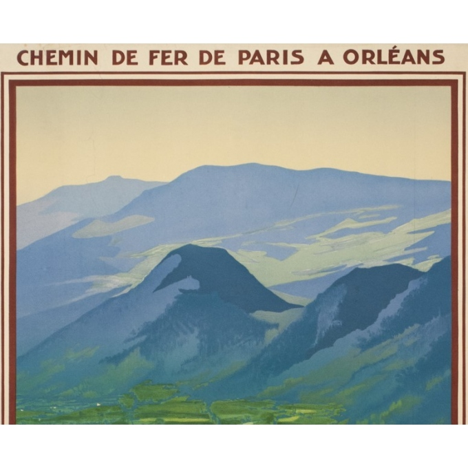 Affiche ancienne de voyage - Hallo - Circa 1925 - Vic sur Cère Cantal - 99 par 61.5 cm - 2