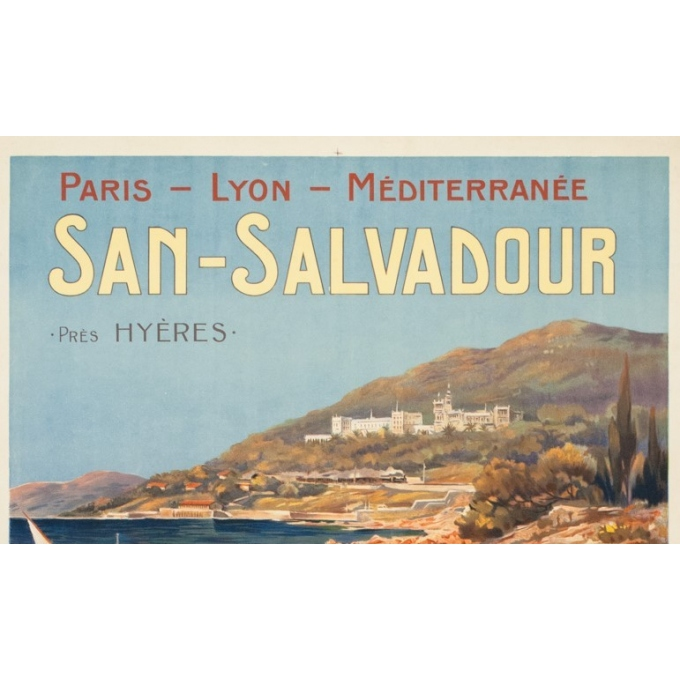 Affiche ancienne de voyage - E.Louis Lessieux - Circa 1900 - San Salvadour PLM - 108 par 77 cm - 2