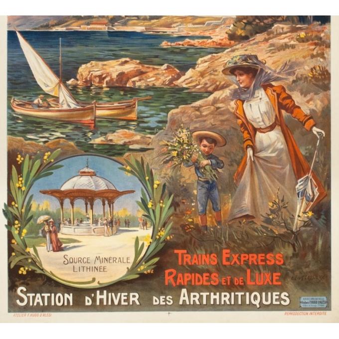 Affiche ancienne de voyage - E.Louis Lessieux - Circa 1900 - San Salvadour PLM - 108 par 77 cm - 3