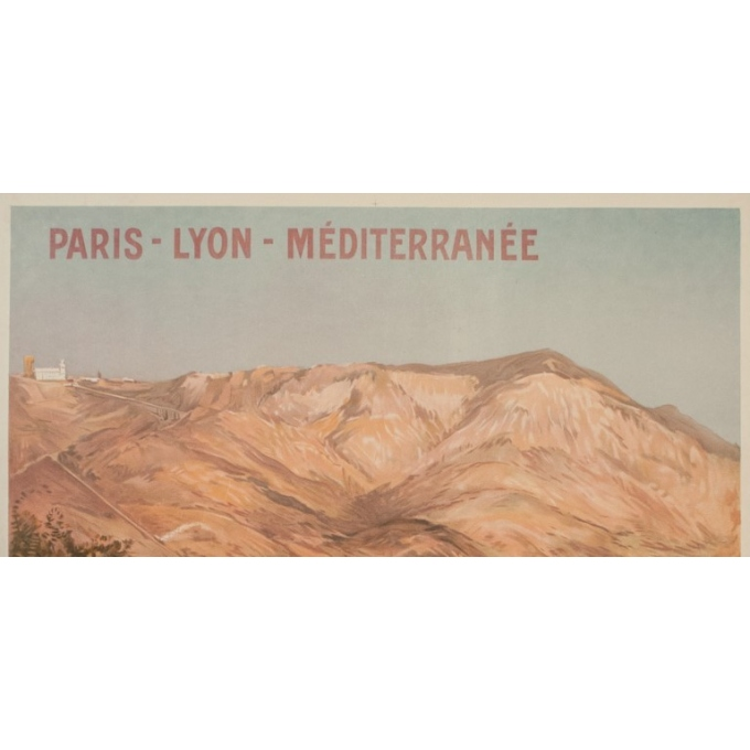 Affiche ancienne de voyage - E. Bourgeois - Circa 1900 - La Turbie  - 108 par 77 cm - 2