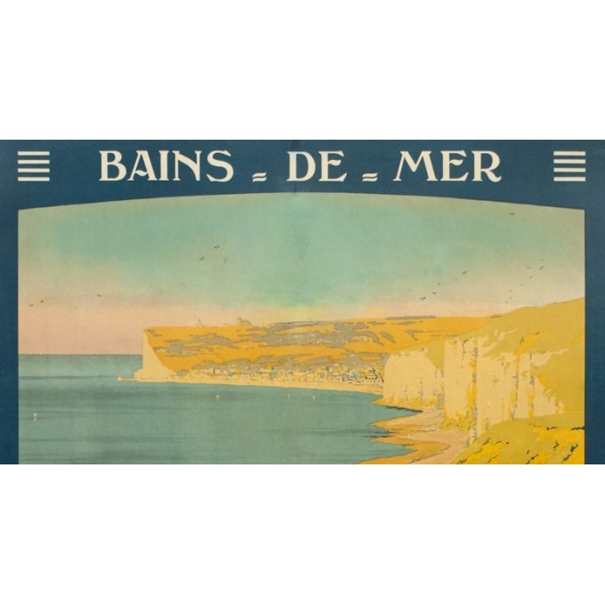 Vintage travel poster - Constant Duval - 1920 - Fécamp  - 41.3 by 29.5 inches - 2