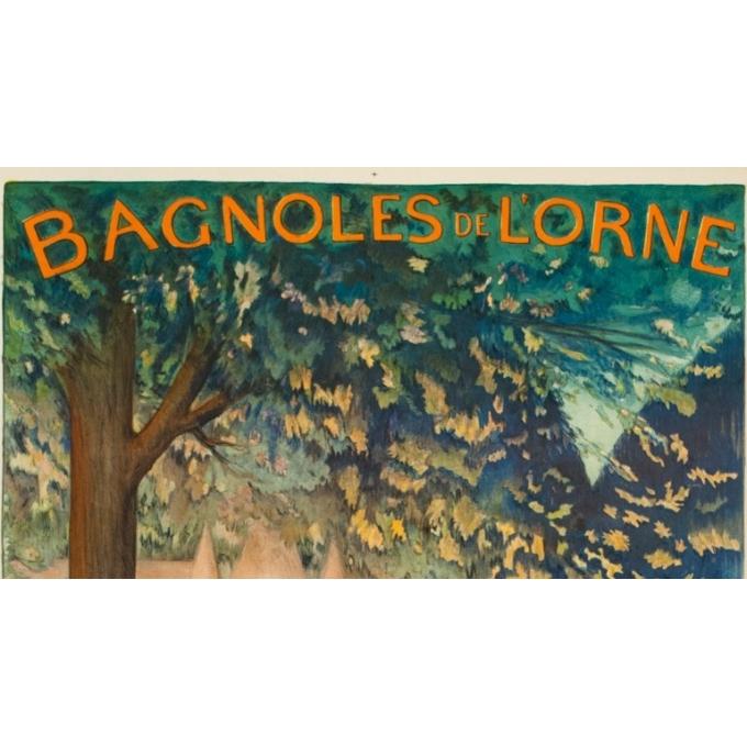 Affiche ancienne de voyage - Cléandre - 1922 - Bagnoles de l'Orme - 106 par 75 cm - 2