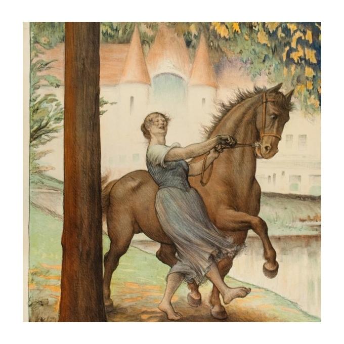 Affiche ancienne de voyage - Cléandre - 1922 - Bagnoles de l'Orme - 106 par 75 cm - 3