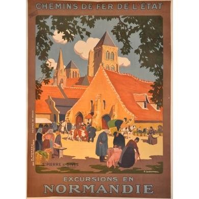 Original poster Saint Pierre sur Dives (Normandie) western France. Elbé Paris.