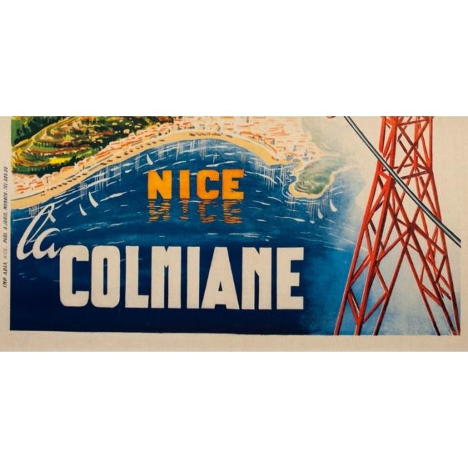 Affiche ancienne de voyage - Mandoni - Circa 1950 - Nice la Colonniale - 100 par 62 cm - 3