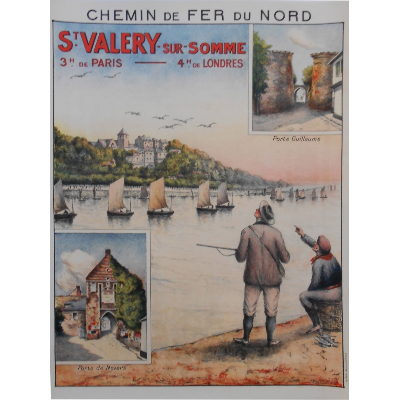 Original poster Saint Valéry-sur-Somme northern France. Elbé Paris.