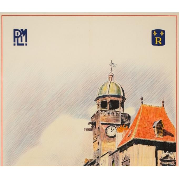 Affiche ancienne de voyage - Ch Tasseny - Circa 1930 - Riom Auvergne - 101.5 par 63 cm - 2
