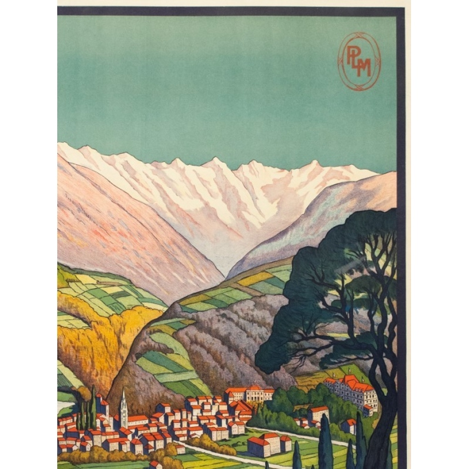 Vintage travel poster - Jean Julien - Circa 1925 - Allevard les Bains - 42.9 by 30.7 inches - 2