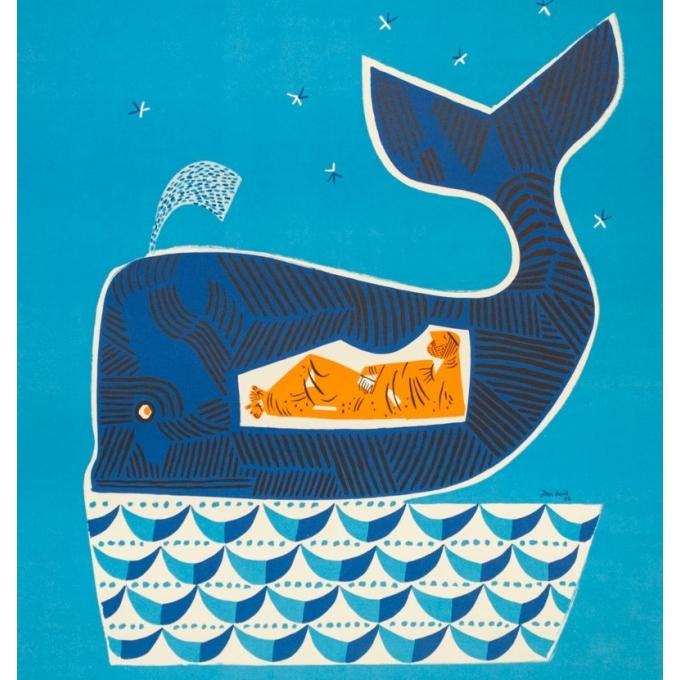 Vintage travel poster - Jean David - 1954 - Israël le pays de la Bible - 38.4 by 24.4 inches - 2