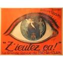Affiche originale de théâtre Z'eutez ça ! par Clarice. Elbé Paris.