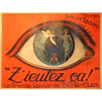 Original french theater vintage poster : Z'eutez ça ! by Clarice. Elbé Paris.
