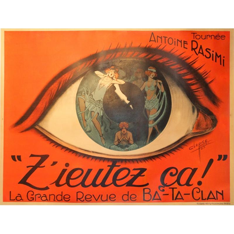 Original french theater vintage poster : Z'eutez ça ! by Clarice. Elbé Paris.