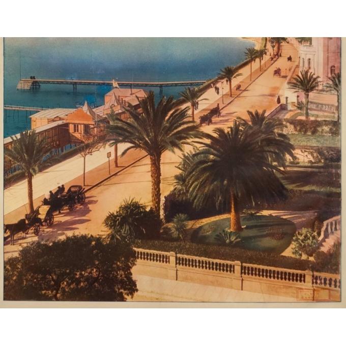 Affiche ancienne de voyage - Anonyme  - Circa 1900 - Cannes PLM - 106 par 77 cm - 3