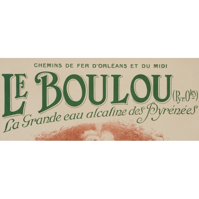 Vintage travel poster - Villette - Circa 1895 - Le Boulou - 41.5 by 29.5 inches - 2
