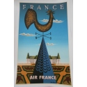 An original poster of Air France - France. Elbé Paris.