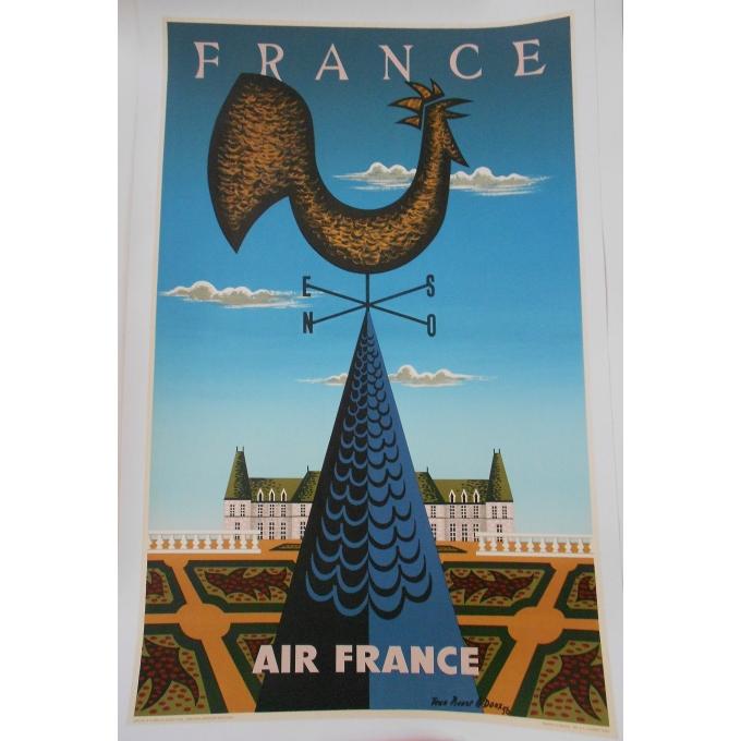 Affiche de la compagnie Air France - France. Elbé Paris.