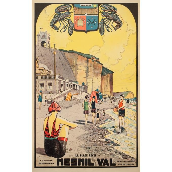 Affiche ancienne de voyage - Ch.Knorr - Circa 1925 - Menils Val - 99 par 63 cm