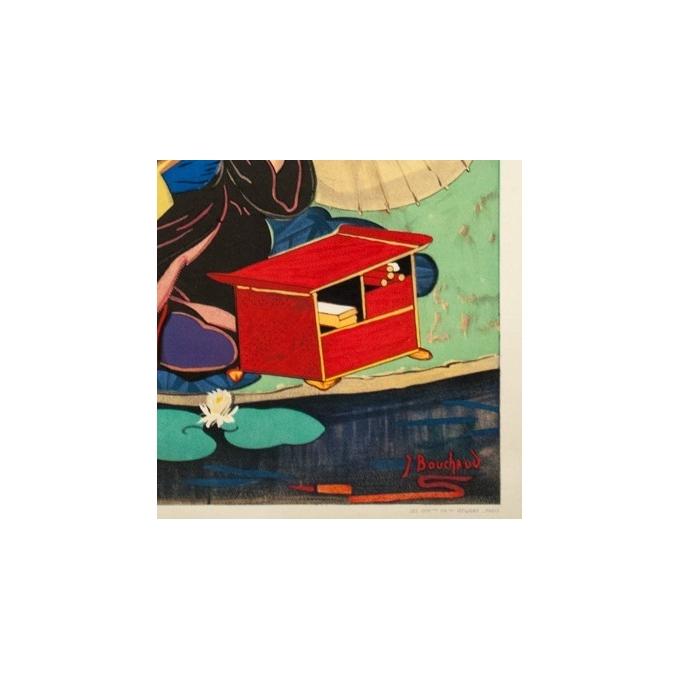 Affiche ancienne de voyage - J.Bouchaud - Circa 1925 - L'extrême Orient par les Messageries Maritimes - 99 par 62 cm - 4