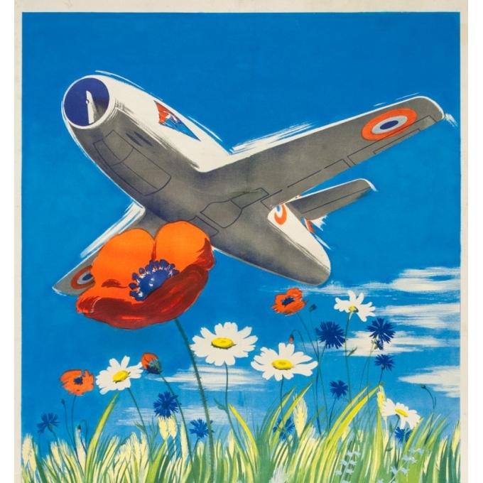 Vintage advertising poster - Delfo - Circa 1950 - L'armée de l'air  - 38.6 by 23.6 inches - 2
