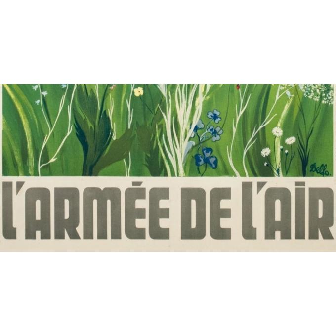 Vintage advertising poster - Delfo - Circa 1950 - L'armée de l'air  - 38.6 by 23.6 inches - 3