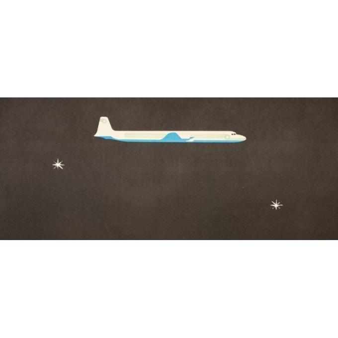 Affiche ancienne de voyage - Alain Gauthier - Circa 1955 - TAI - 98 par 62 cm - 2