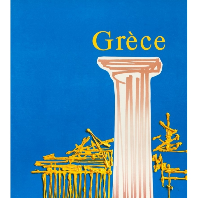 Vintage travel poster - Georges Mathieu - Circa 1960 - Air France Grèce - 39.4 by 23.6 inches - 2
