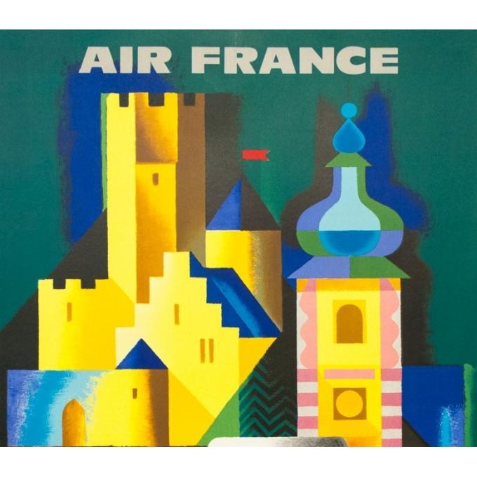 Affiche ancienne de voyage - Nathan - 1963 - Air France Allemagne Germany - 99 par 61.5 cm - 2