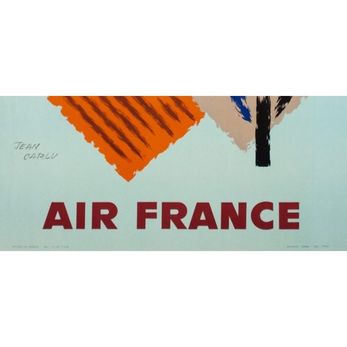 Vintage travel poster - Jean Carlu - 1958 - Air France France - 39.4 by 24.4 inches - 3