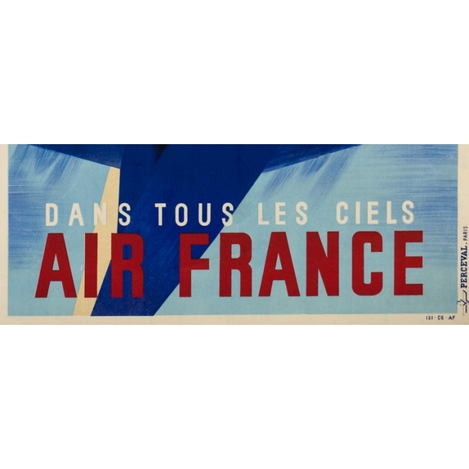 Affiche ancienne de voyage - Roger de Valerio - 1935 - Air France Dans Tous Les Ciels - 98.5 par 61 cm - 3