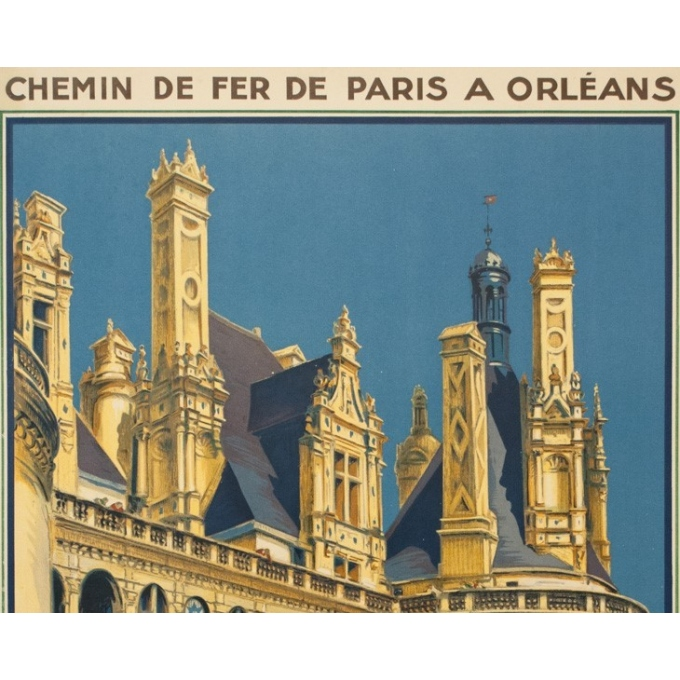 Vintage travel poster - Hallo - 1932 - Chambord - 39 by 24.2 inches - 2