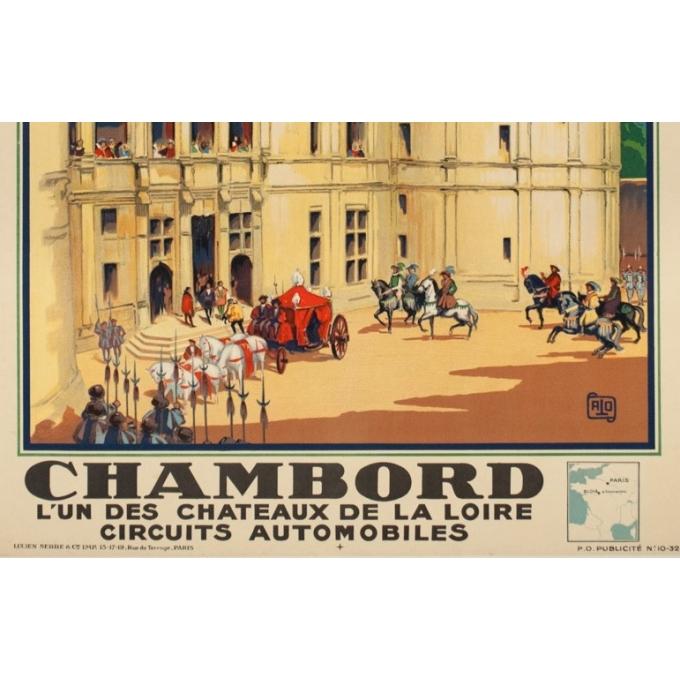Affiche ancienne de voyage - Hallo - 1932 - Chambord - 99 par 61.5 cm - 3