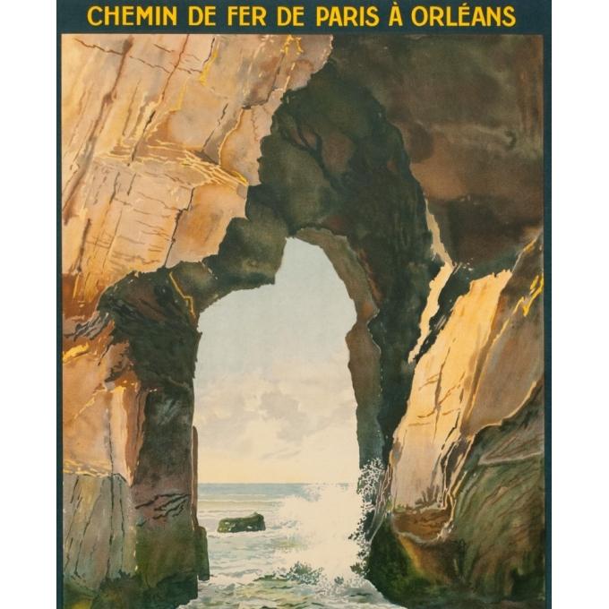 Affiche ancienne de voyage - L.Symonnot - 1929 - Quiberon Morbihan - 100 par 62 cm - 2