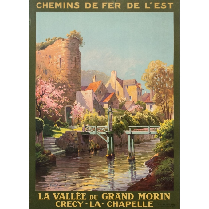 Vintage travel poster - Charles Hallés - 1924 - Crecy La Chapelle - 41.3 by 29.7 inches