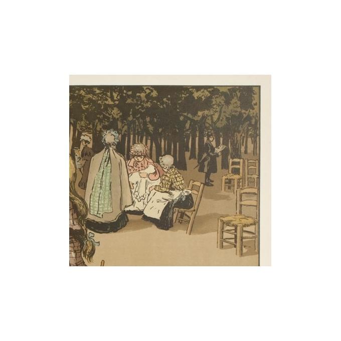 Affiche ancienne originale - Abel Truchel - Circa 1900 - Jardin Du Luxembourg - 90 par 65 cm - 3