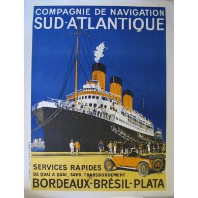 Original vintage poster Bordeaux Brésil Plata
