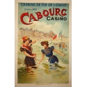 Orignal french vintage poster of western France : Cabourg casino. Elbé Paris.