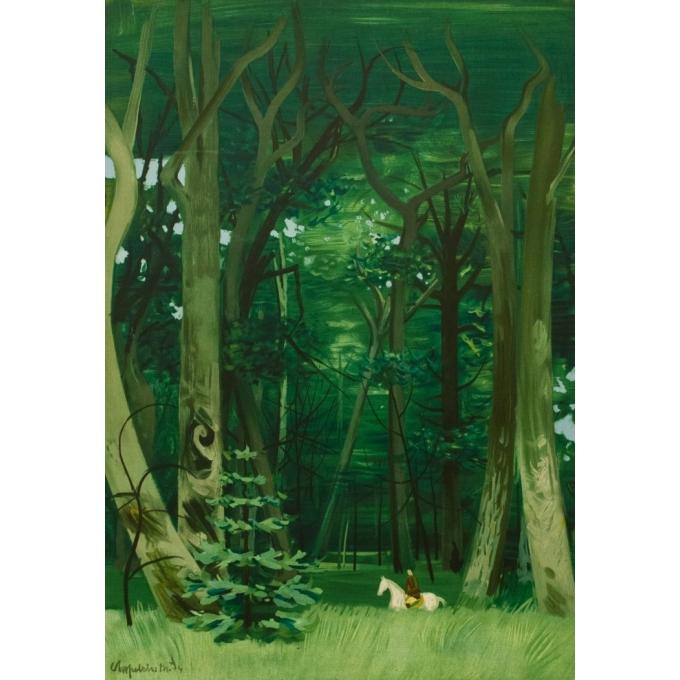 Affiche ancienne de voyage - Chaplin - 1949 - Forêts De L'Ile De France - 100 par 61 cm - 2