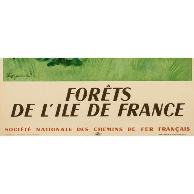 Affiche ancienne de voyage - Chaplin - 1949 - Forêts De L'Ile De France - 100 par 61 cm - 3