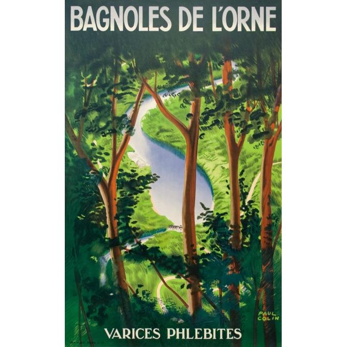 Affiche ancienne de voyage - Paul Colin - 1937 - Bagnole De L'Orne - 101 par 62.5 cm