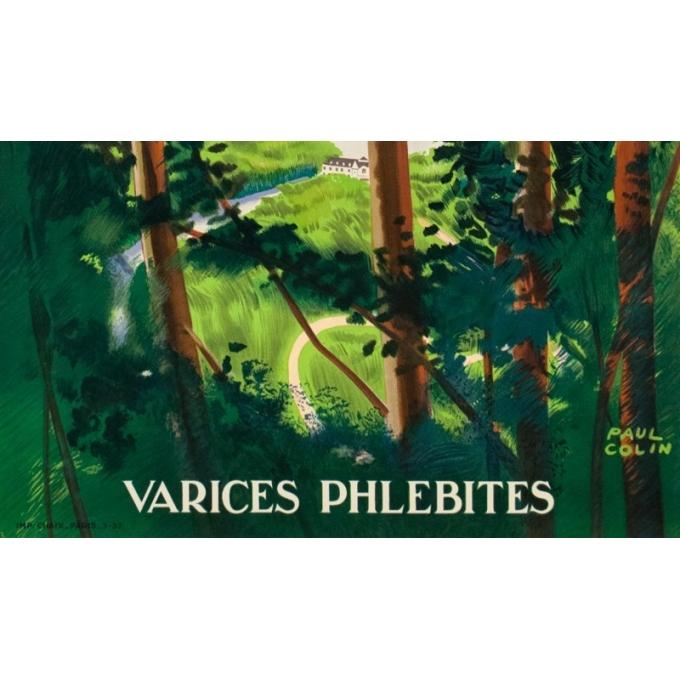 Vintage travel poster - Paul Colin - 1937 - Bagnole De L'Orne - 39.8 by 24.6 inches - 3