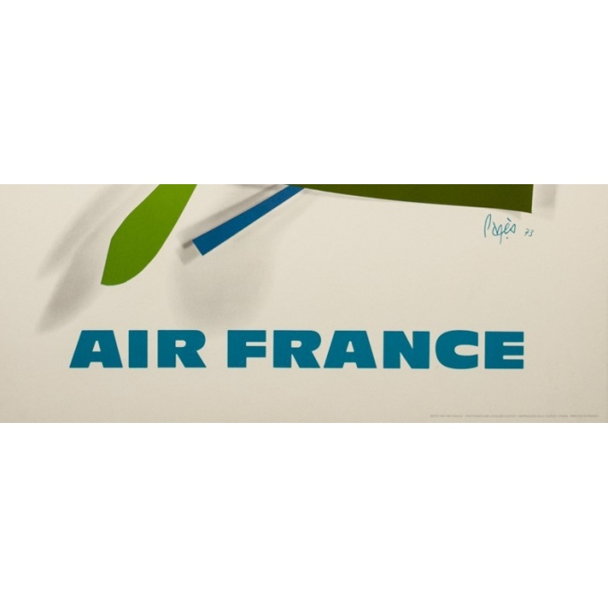 Affiche ancienne de voyage - Raymond pagès - 1970 - Air France La Reunion - 99.5 par 63.5 cm - 3