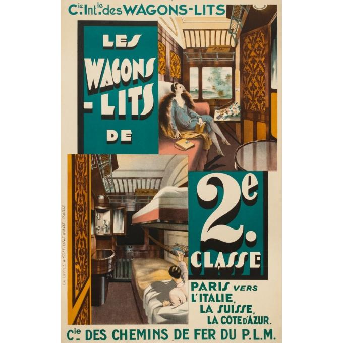 Affiche ancienne de voyage - Anonyme - Circa 1925 - Compagnie Internationale Des Wagons Lits - 101 par 65 cm