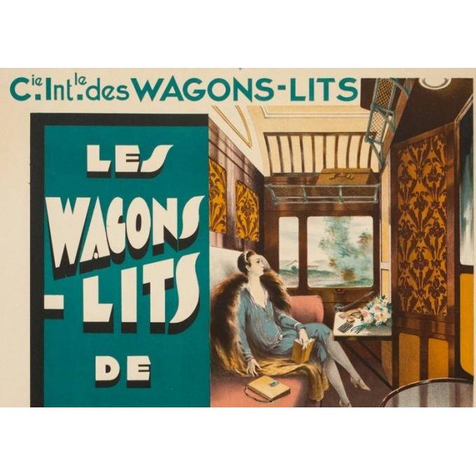 Affiche ancienne de voyage - Anonyme - Circa 1925 - Compagnie Internationale Des Wagons Lits - 101 par 65 cm - 2