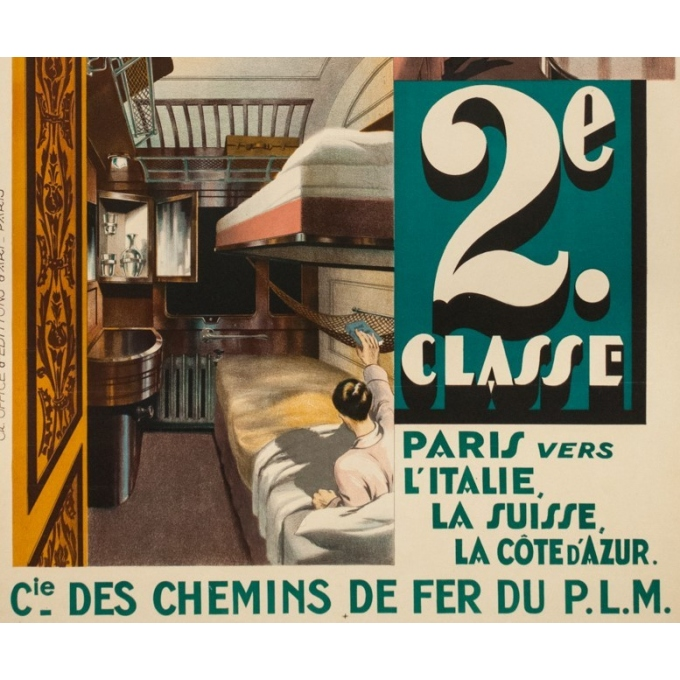 Vintage travel poster - Anonyme - Circa 1925 - Compagnie Internationale Des Wagons Lits - 39.8 by 25.6 inches - 3