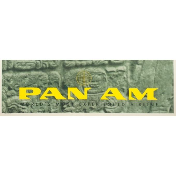 Affiche ancienne de voyage - Stenberry - 1959 - Mexico Central America Pan Am - 106.5 par 71 cm - 3