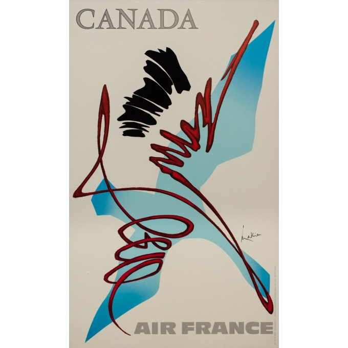 Vintage travel poster - Mathieu - 1968 - Air France Canada - 39.4 by 23.6 inches