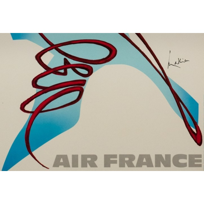 Vintage travel poster - Mathieu - 1968 - Air France Canada - 39.4 by 23.6 inches - 3